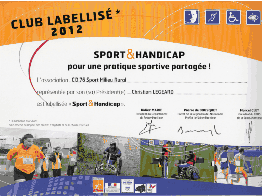 "Label ""Sport et Handicap"""