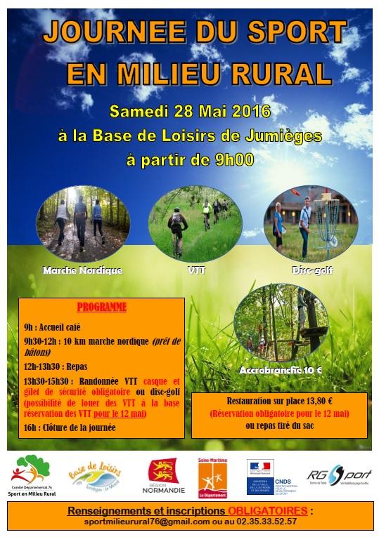 Cdsmr 76 journ e du sport en milieu rural samedi 28 for En milieu rural