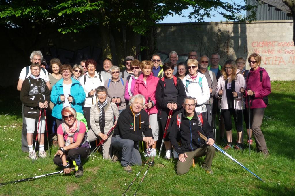 Une trentaine de randonneurs ont répondu présents pour cette nouvelle rando nordique à Eu ...