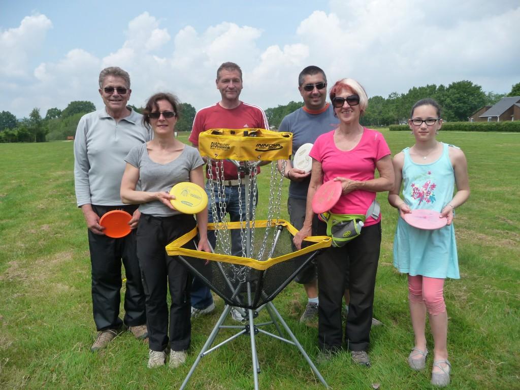 Le CDSMR76 a proposé une animation « disc-golf » lors de la « Journée du Sport en Milieu Rural » …