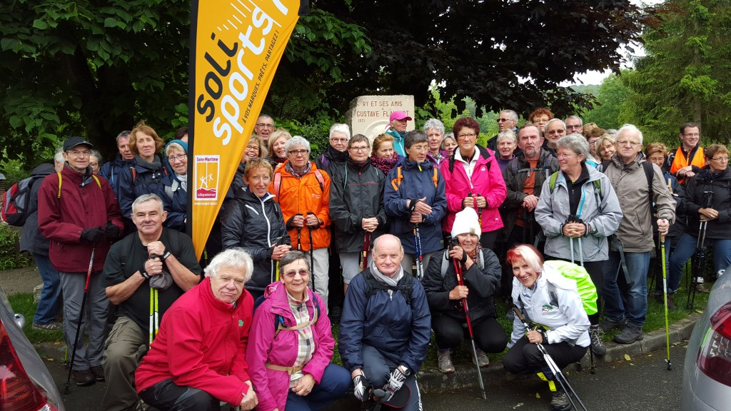 Près de 50 personnes présentes à Ry pour une randonnée nordique de 10,5 km…